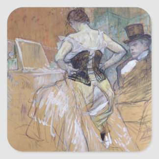 Woman at her Toilet, study for 'Elles', c.1896 Square Sticker