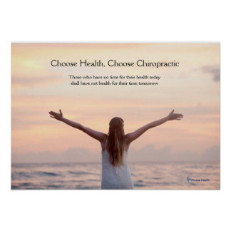 Woman at sea chiropractic poster