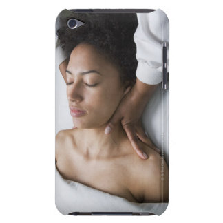 Woman at spa iPod touch cases