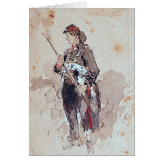 Woman at the Hotel de Ville Card