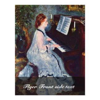 Woman At The Piano By Pierre-Auguste Renoir 21.5 Cm X 28 Cm Flyer