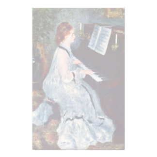 Woman At The Piano By Pierre-Auguste Renoir Stationery Design