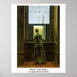 Woman At The Window By Caspar David Friedrich Poster