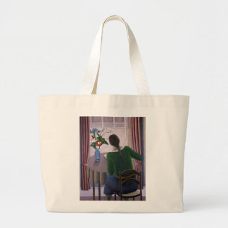 Woman at Window 1998 Large Tote Bag