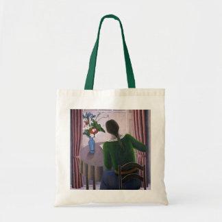 Woman at Window 1998 Tote Bag