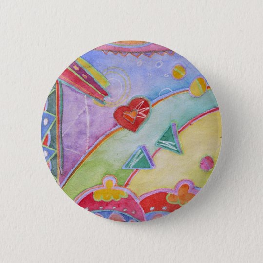 woman at window looking lor love 6 cm round badge