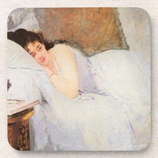 Woman Awakening, 1876 (oil on canvas) Drink Coasters