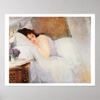 Woman Awakening, 1876 (oil on canvas) Poster