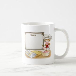 Woman Baker or Pastry Chef Menu Sign Coffee Mug