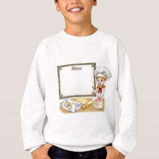 Woman Baker or Pastry Chef Menu Sign Sweatshirt