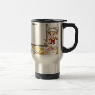 Woman Baker or Pastry Chef Menu Sign Travel Mug