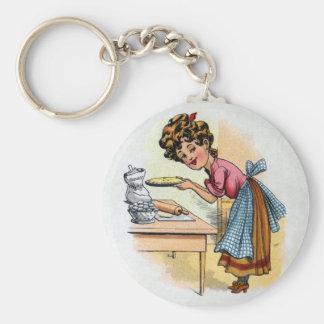 Woman Baking Pies Key Chains