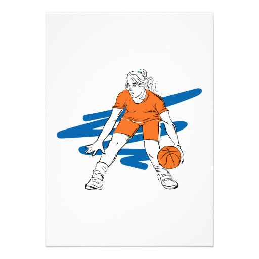 woman basketbal player invite