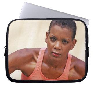 Woman basketball player laptop sleeve