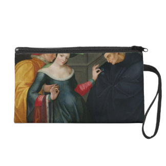 Woman Between Two Ages Wristlet Clutches