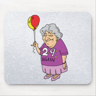 woman birthday 29 again mouse pad
