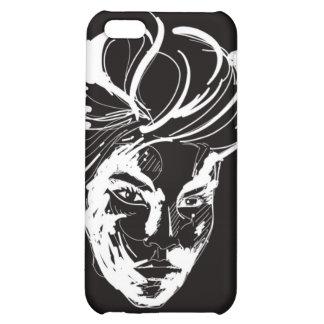 Woman black white iPhone 5C cases