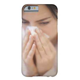 Woman blowing her nose. barely there iPhone 6 case