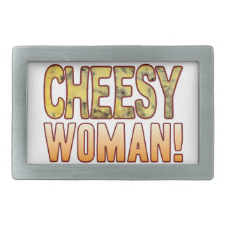 Woman Blue Cheese Rectangular Belt Buckle