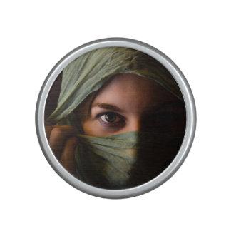 woman bluetooth speaker