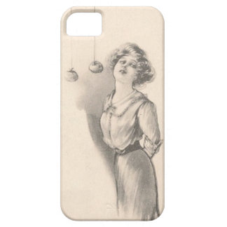 Woman Bobbing For Apples Black And White iPhone 5 Covers