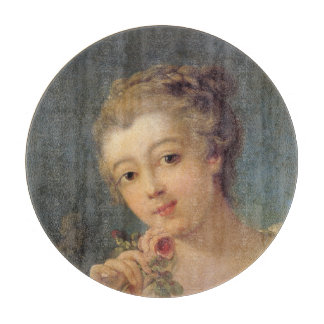 Woman Bouquet Roses in detail by Francois Boucher Cutting Boards