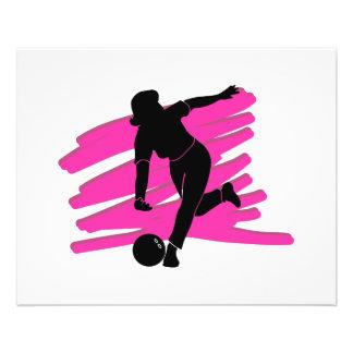 woman bowler bowling silhouette 11.5 cm x 14 cm flyer