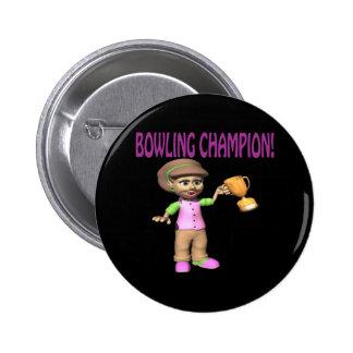 Woman Bowling Champion Pins