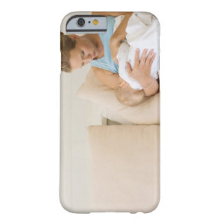 Woman breastfeeding baby barely there iPhone 6 case