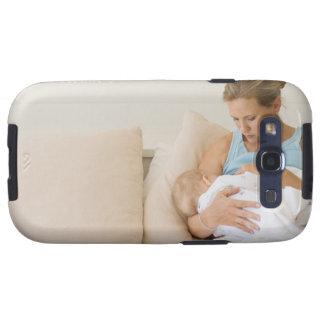 Woman breastfeeding baby galaxy s3 case