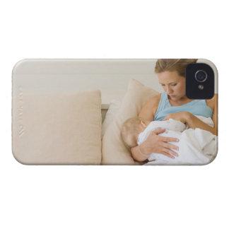 Woman breastfeeding baby iPhone 4 case