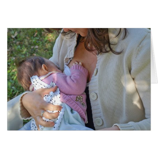 Woman breastfeeding card
