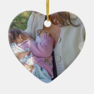 woman breastfeeding christmas ornament