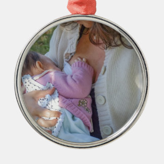 Woman breastfeeding christmas ornament
