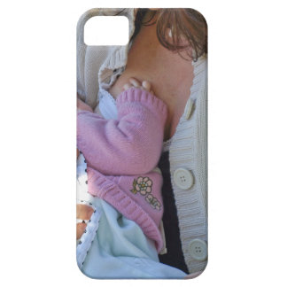Woman breastfeeding iPhone 5 case