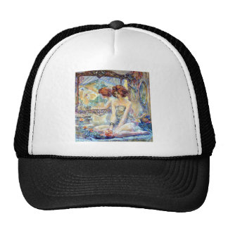 Woman By Mirror Reflections Impressionism painting Cap