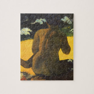 Woman by the Sea by Paul Gauguin, Vintage Fine Art Jigsaw Puzzle