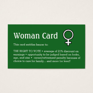 """Woman Card, Business, 3.5"""" x 2.0"""", 100 pack"""