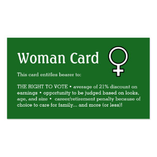"Woman Card, Business, 3.5"" x 2.0"", 100 pack Pack Of Standard Business Cards"