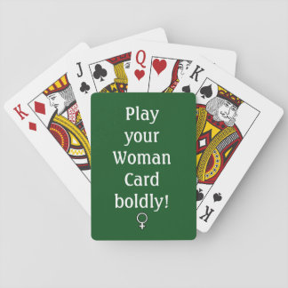 Woman Card, Playing Cards, Standard Faces Playing Cards