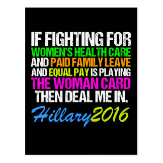 Woman Card Pro Hillary Quote Postcard