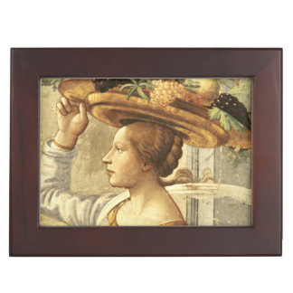 Woman carrying Fruit, from the Birth of St. John t Keepsake Box