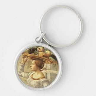 Woman carrying Fruit, from the Birth of St. John t Key Ring