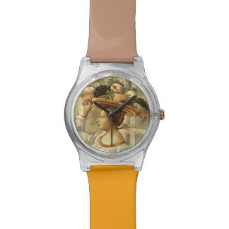 Woman carrying Fruit, from the Birth of St. John t Wristwatches