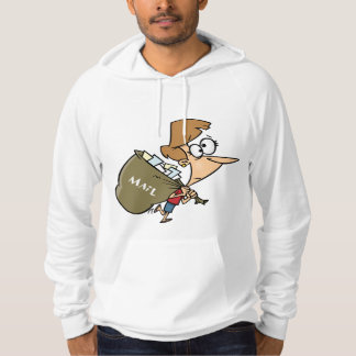 Woman Carrying Mailbag Mens Hoodie