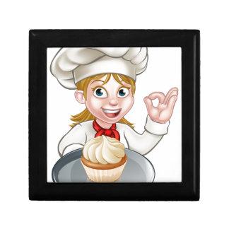 Woman Chef or Baker Cartoon Gift Box