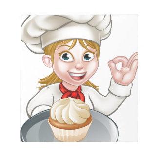 Woman Chef or Baker Cartoon Notepads
