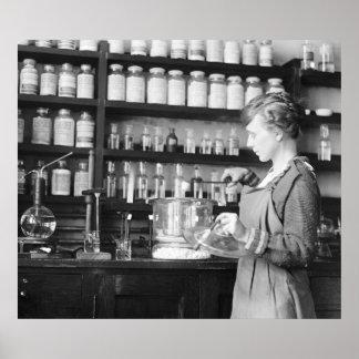 Woman Chemist, 1919 Posters