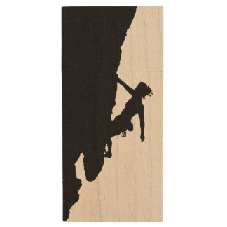 woman climbing Maple wood USB drive Wood USB 2.0 Flash Drive