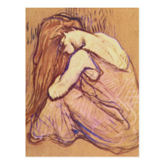 Woman Combing her Hair by Henri de Toulouse-Lautre Postcard